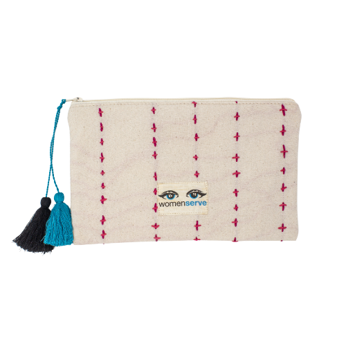 The Artisan Collective Handstitched Travel Pouch - WomenServe