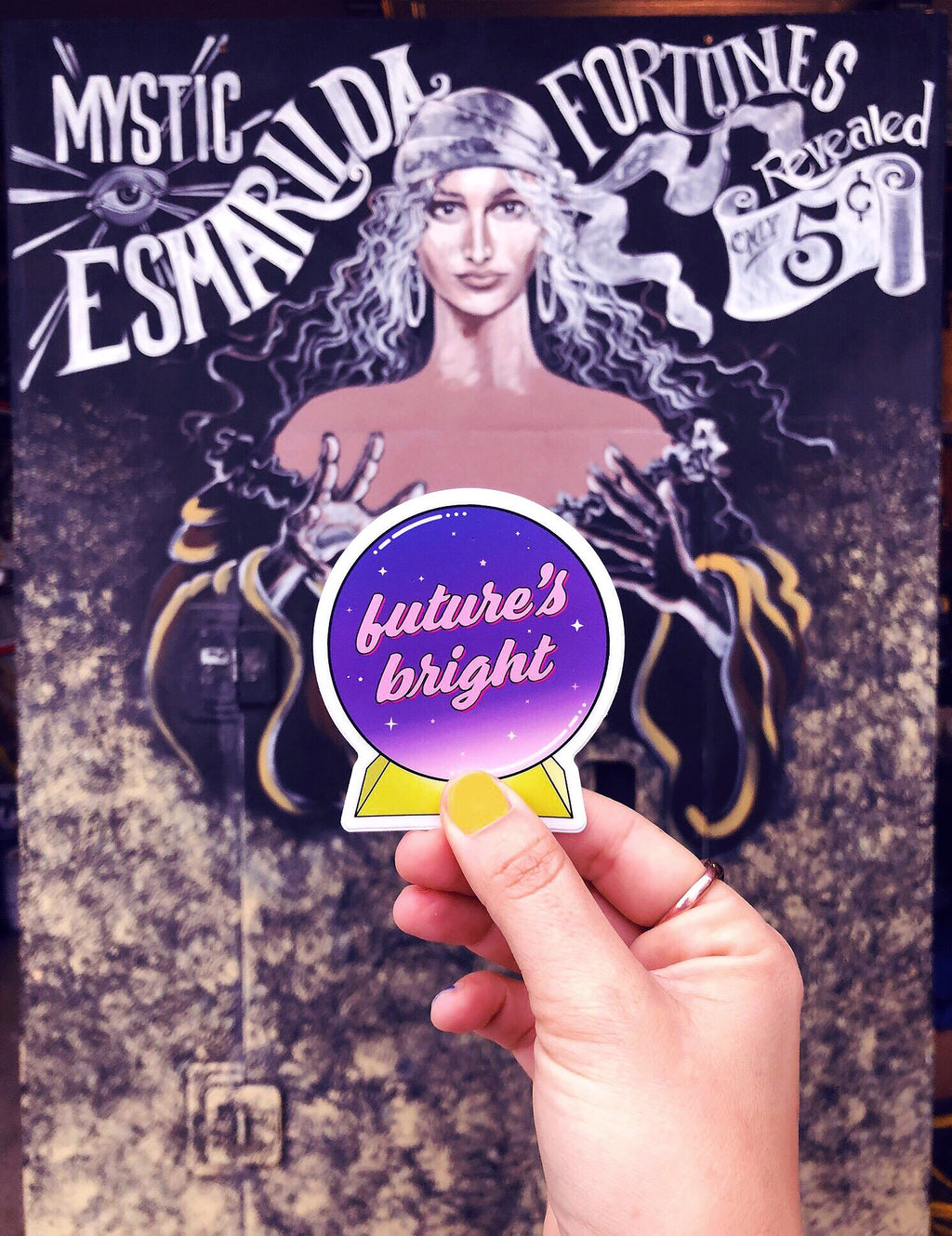 Future's Bright Crystal Ball Sticker