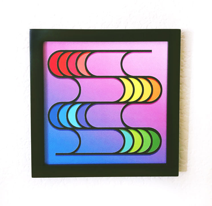 "Framed Know with the Flow Art Piece (8"" x 8"")"