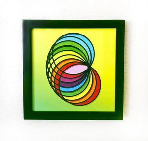 "Framed Peace of Torus Art Piece (8"" x 8"")"