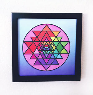 "Framed Cosmic Consciousness Art Piece (8"" x 8"")"