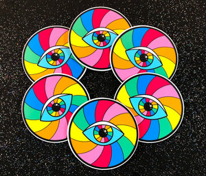 Psychedelic Rainbow Eye Sticker