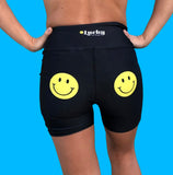 Smiley Yoga Shorts