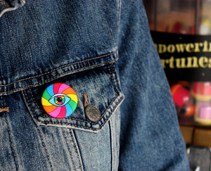 Rainbow Eye Button