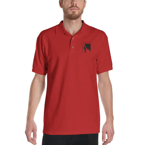 Give Me My Mountain Men's Embroidered Polo Shirt