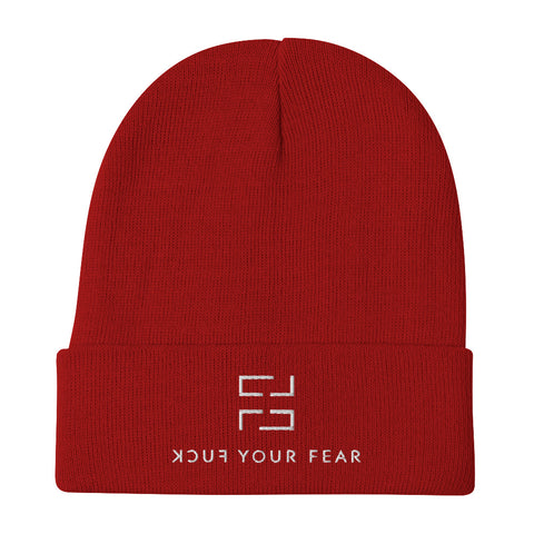 Cover Your (F)ear Beanie - Red Edition - Fuck Your Fear