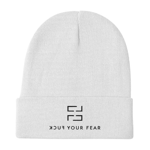 Cover Your (F)ear Beanie - White Edition - Fuck Your Fear