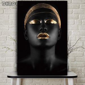 "Affiche sur toile ""Black African Nude Woman"""