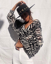 Load image into Gallery viewer, Jagger Blouse Zebra