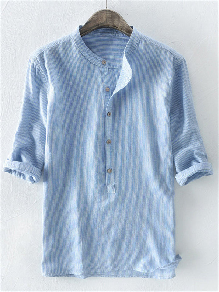 Men's Striped Button Up Shirts