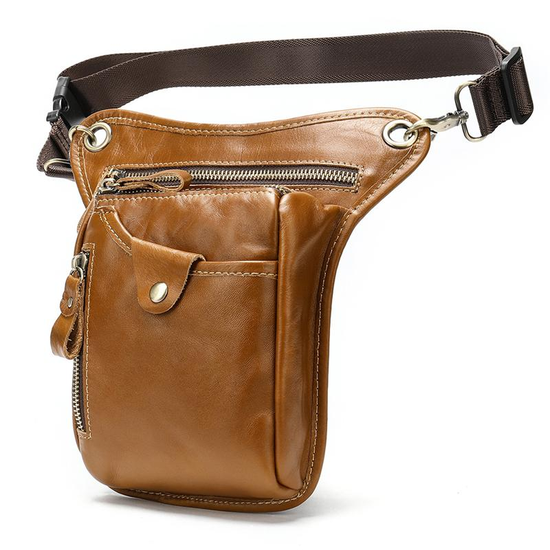 Men's Retro Leather Leg Bag