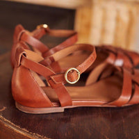 Flat Heel Peep Toe Casual Sandals