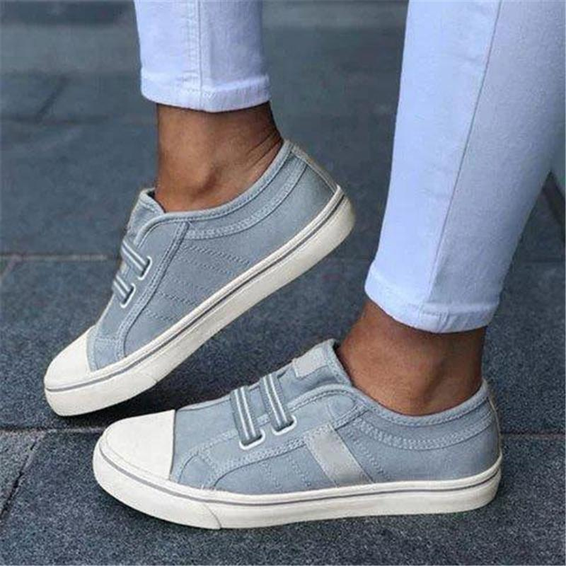 Women's Fashion Round Toe Casual Flat Canvas Shoes
