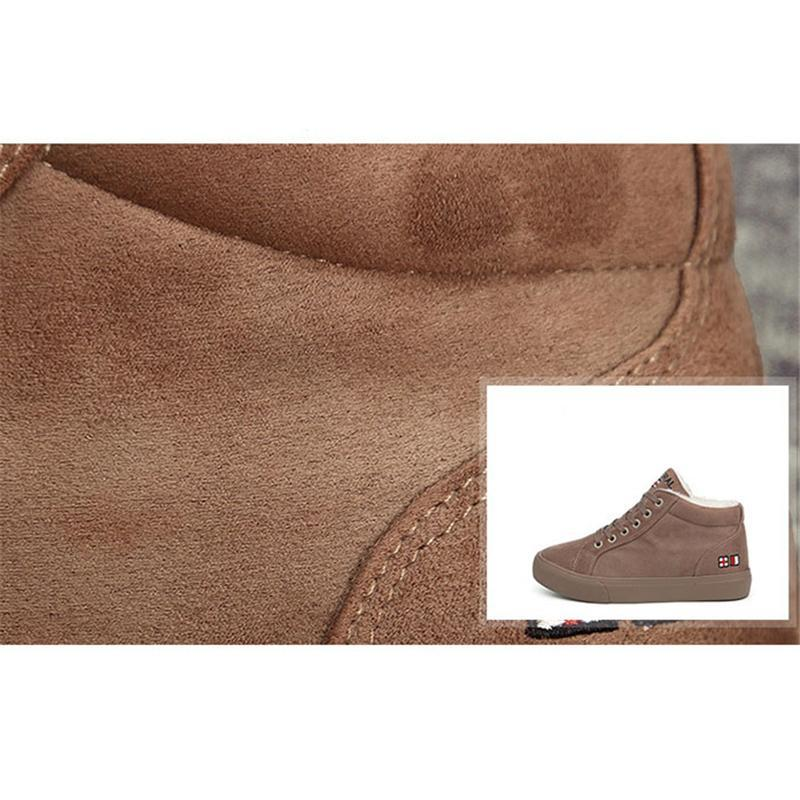 Warm Lace Up Flat Ankle Boots