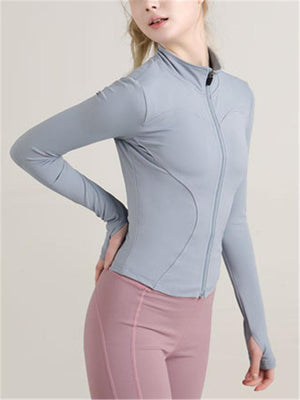 Women's Quick-Dry Slim Fit Full Zip Running Yoga Jacket Coat