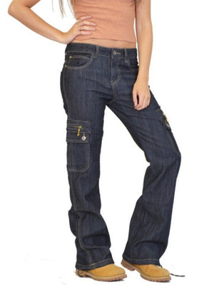 Comfy Loose Multi Pockets Casual Jeans For Women