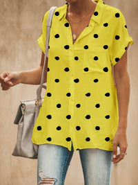 Women's Fashion Polka Dots Shirt