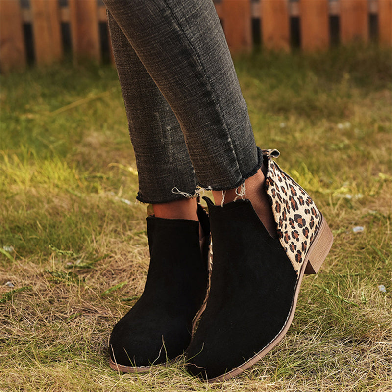 Women's Suede Chunky Heel Shoes