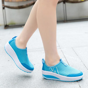 Women Mesh Breathable Comfortable Outdoor Casual Sport Shoes
