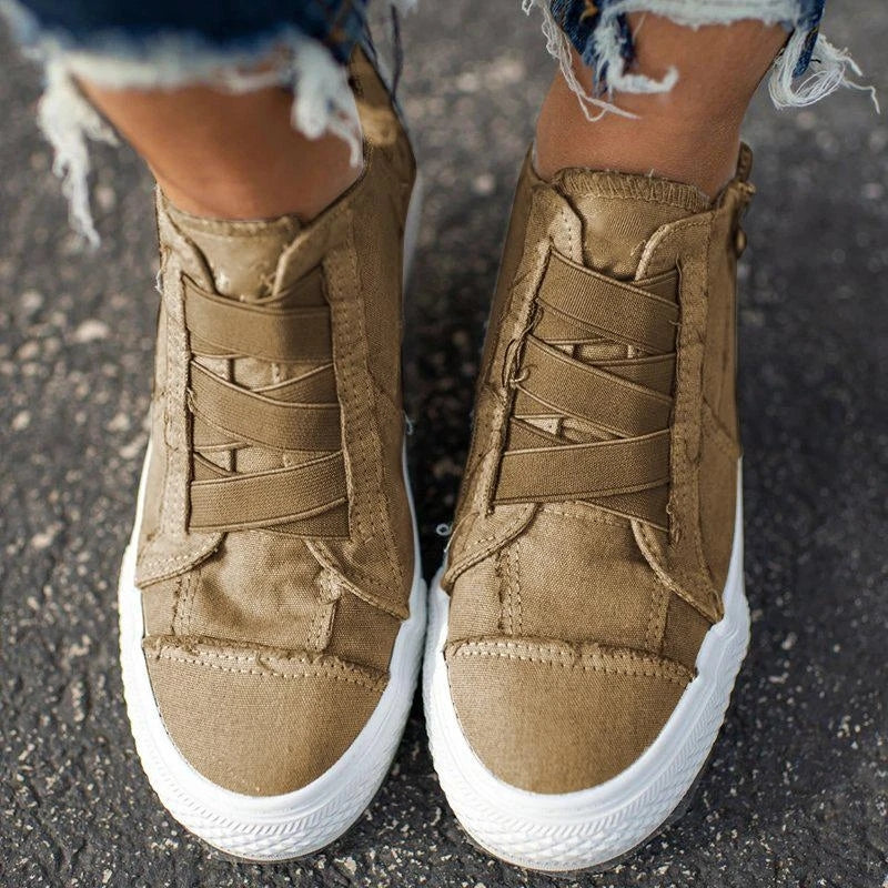 Fashion Arch Support Canvas Shoes For Women
