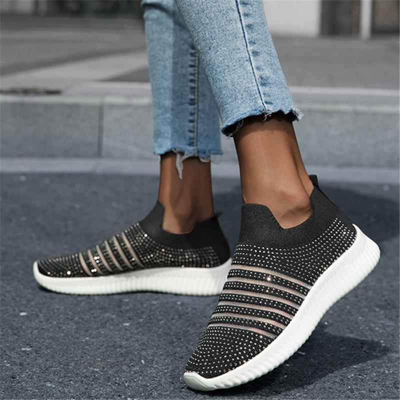 Women's Shiny Sequined Mesh Breathable Jogging Shoes