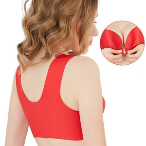 Comfortable Front Closure Seamless Wireless Bras - Nude