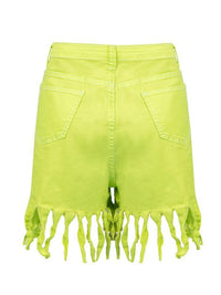 Women's Tassels Straight Denim Shorts