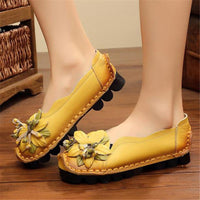 Handmade Flat Shoes Genuine Leather Moccasins For Women