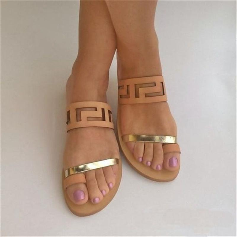 Flat Open Toe Beach Sandals