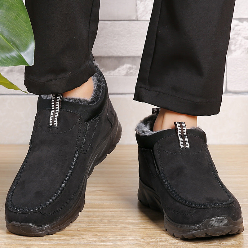 Men's Comfort Suede Shoes Warm Plush Lining Ankle Boots