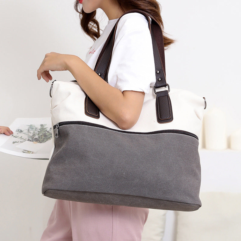 Casual Large Capacity Travel Canvas Cross-body Bag