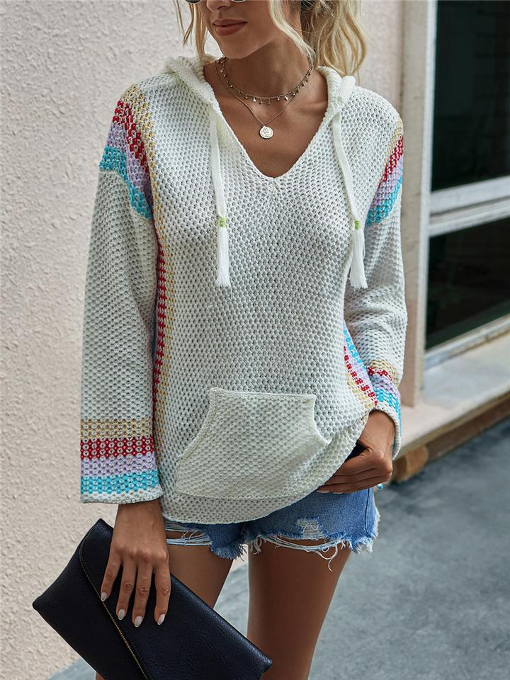Cozy Hooded Knit Shirt with Kangaroo Pocket