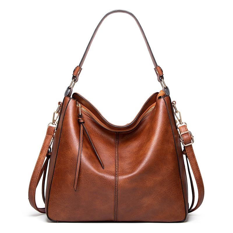 Elegant Classic Large Capacity Soft Leather Tote Bag Shoulder Bag