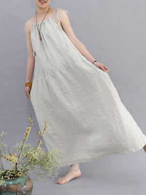 Literature Loosee Big Hem Long Dress