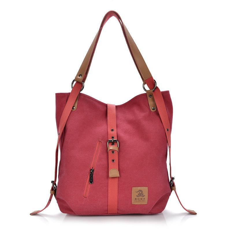 Women's Canvas Casual Multifunctional Large Capacity Handbag Backpack