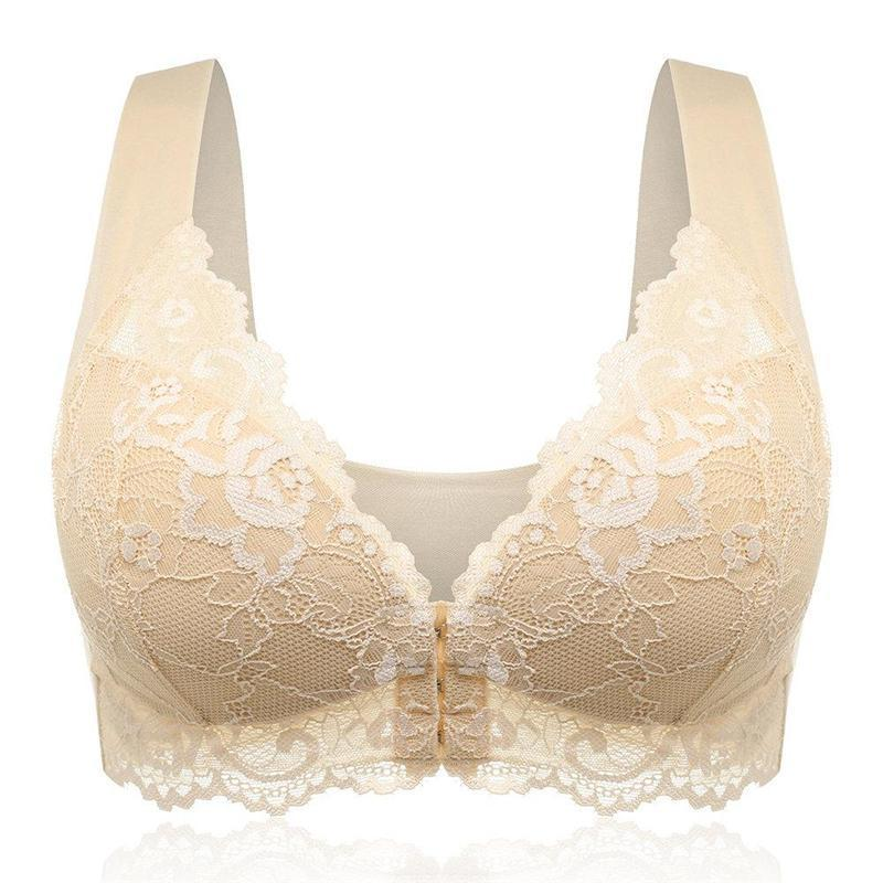 Wireless Seamlessly T-shirt Lace Embroidery Lightly Lined Bras