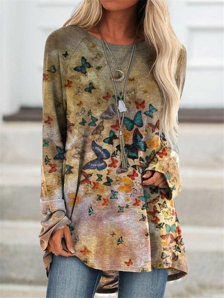 Stylish Floral Print Long Sleeve Shirt