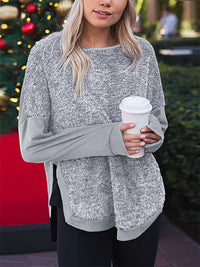 Front Short Long Loose Sweater