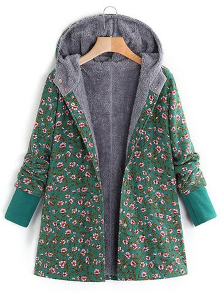 Women's Printed Hooded Casual Daily Coats