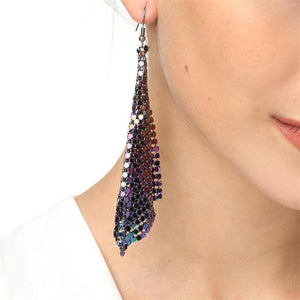 Fashion Earrings Metal Sequins Tassel Earrings