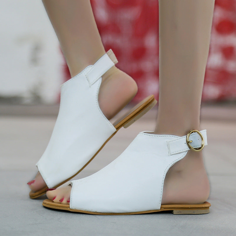 Women's Elegant Flat Heel Buckle Sandals For Summer