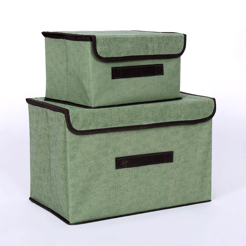 Lightweight Large Collapsible Space Saving Fabric Durable Storage Box with Lid