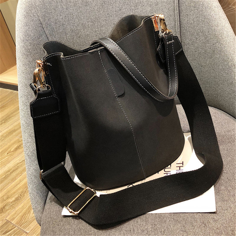 Women's Fashion Large Capacity Bucket Bag Handbag