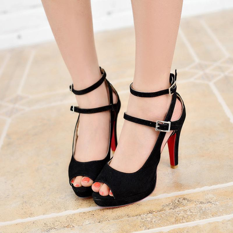 LuveStyle Women's Sexy Red Bottom High Heels Pumps Sandals