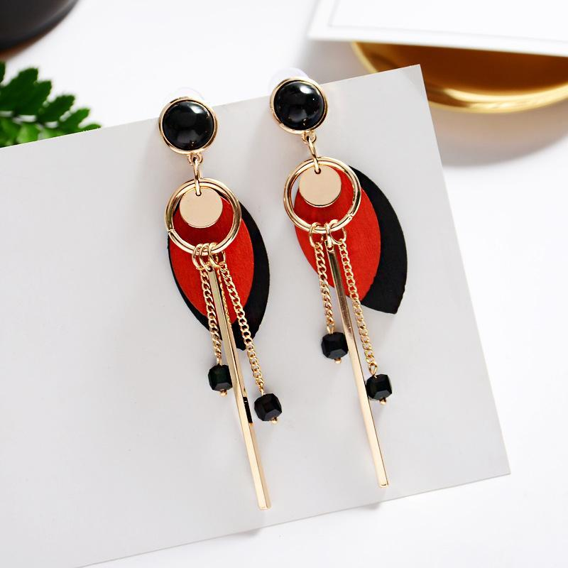 Vintage Long Tassel Simple Earrings