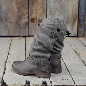 Vintage Adjustable Buckle Casual Boots