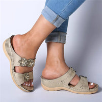 Women Floral Casual Outdoor Wedges Sandals