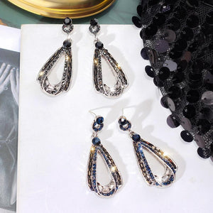 Luxury Drop-shaped Pendant Rhinestone Earrings
