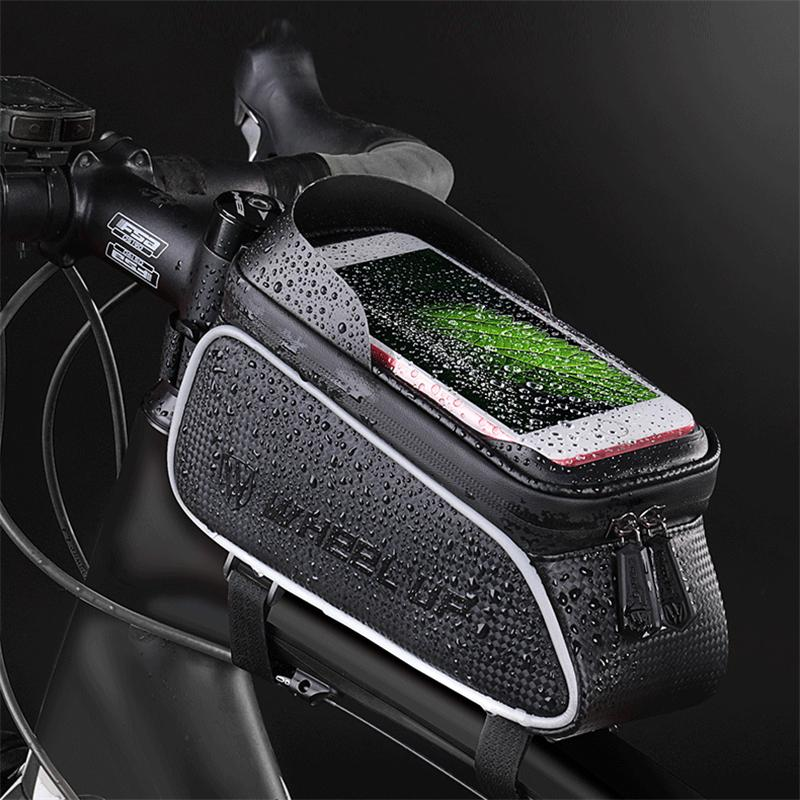 Waterproof Screen Touch Bicycle Frame Phone Holder Pouch Bags