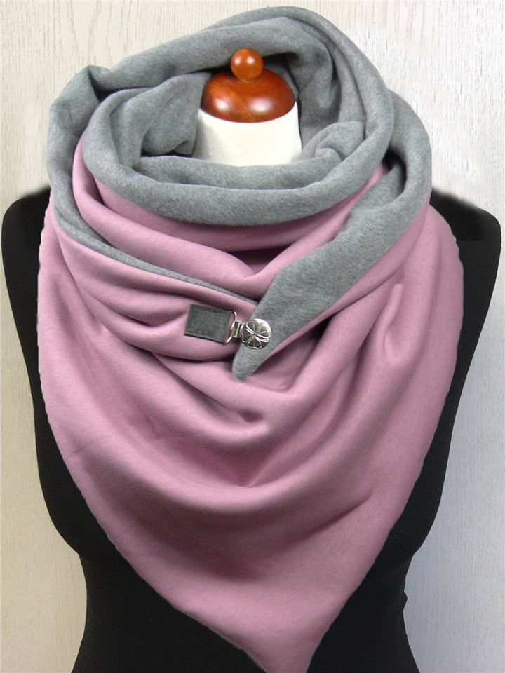 Trendy Color Block Neck Warmer Triangle Scarves & Shawls